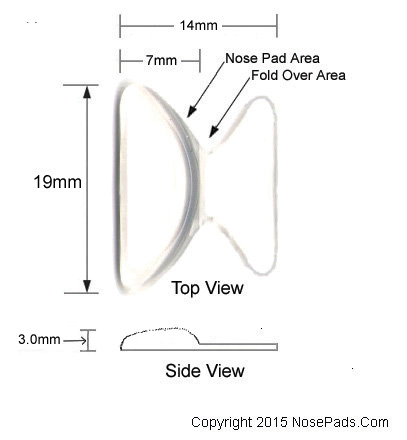 Adhesive wing nose pad for eye glasses
