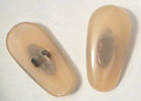 Beige/Gold Ray-Ban type nose pads for sunglasses and eyeglasses