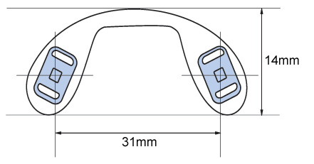 Bridge strap nose pads