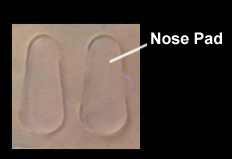 Silicone adhesive nose pads